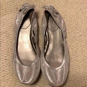 Maria Sharapova for Cole Haan silver flats